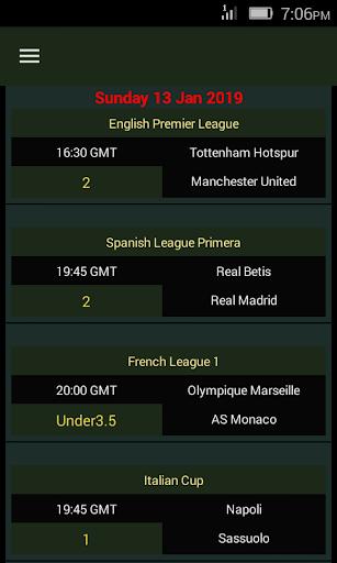 SURE Bets - Predictions Foot 100% 1.1 Screenshots 2