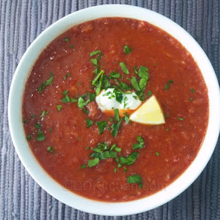 Beet And Cabbage Borscht.