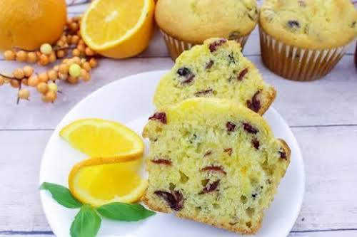 """Jumbo Cranberry Citrus Muffins """"These cranberry orange muffins will be a delicious..."""