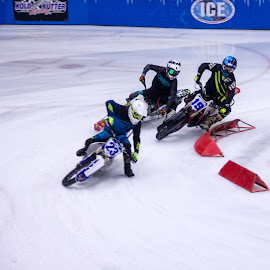 by Art Tilts - Sports & Fitness Motorsports ( tight corner, motorcycle, ice racing, three, two wheel )