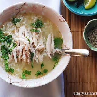 Chnor Chrook ~ Cambodian Lemongrass Chicken & Rice Soup.