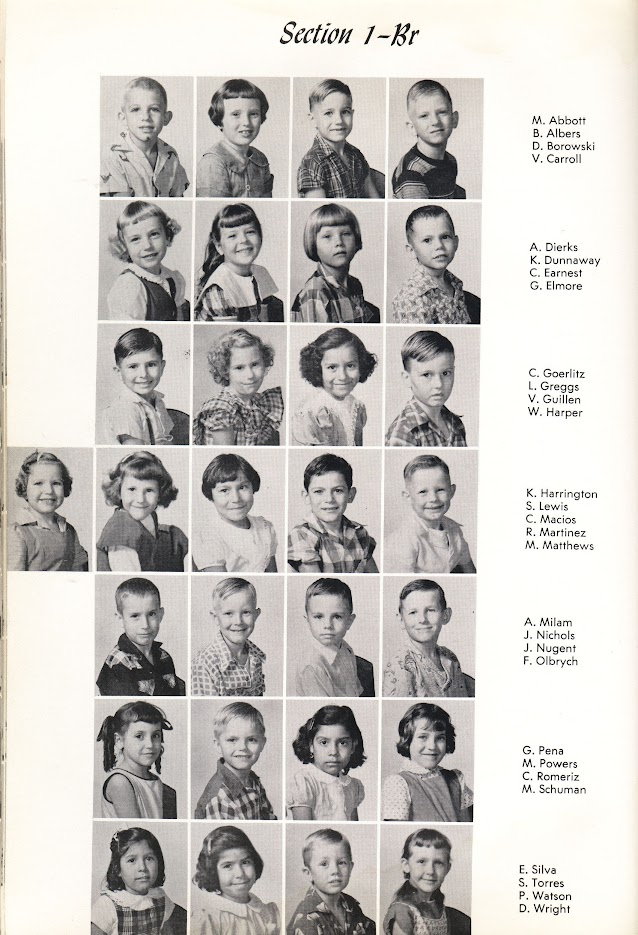 DHS Class of '66 as 1st graders in 1955