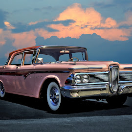 Edsel by JEFFREY LORBER - Transportation Automobiles ( jeffrey lorber, rust 'n chrome, cars, pink, edsel, ford, lorberphoto,  )