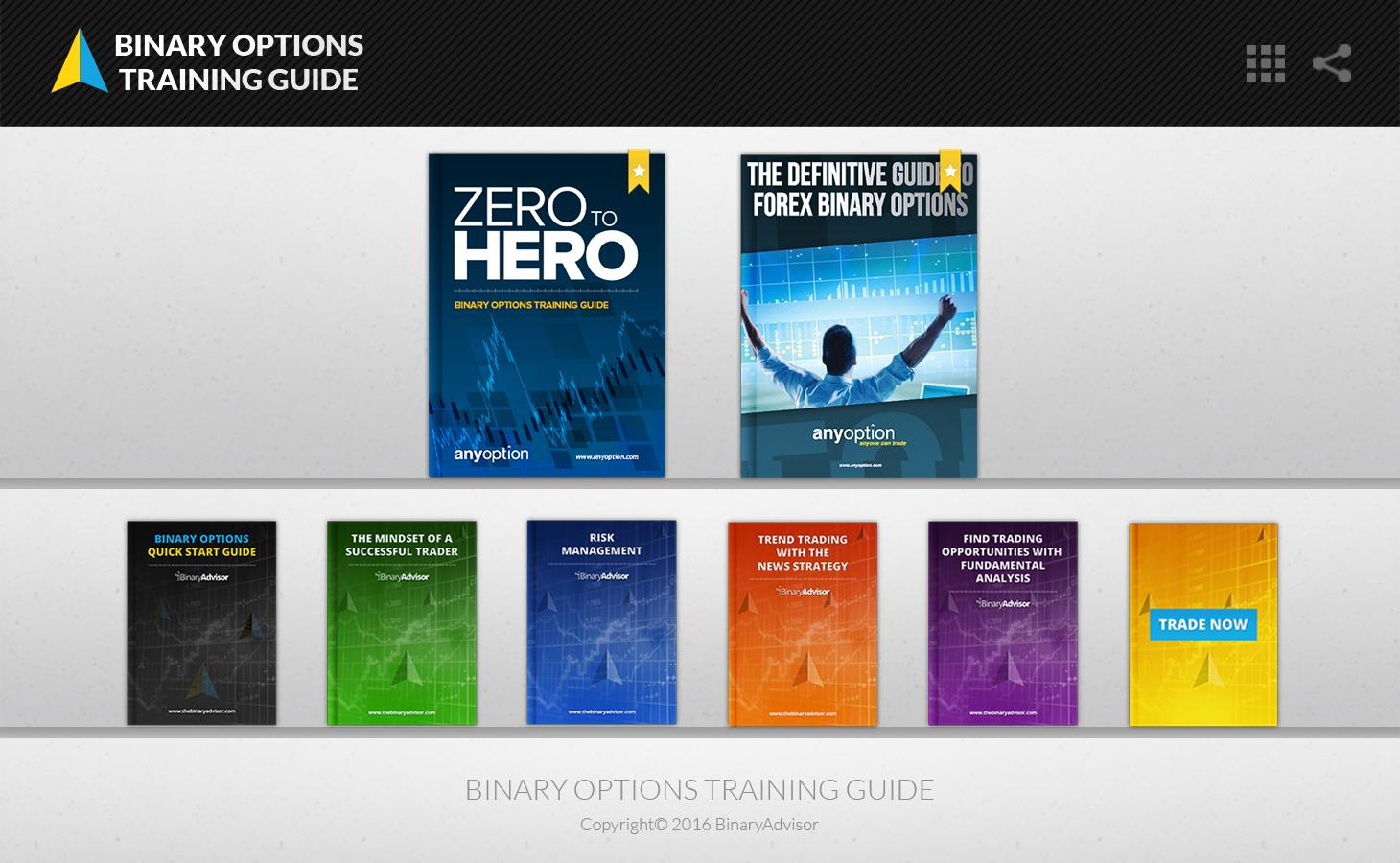 Binary options training guide