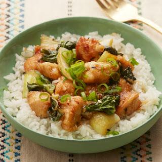 Sesame Chicken with Bok Choy & Jasmine Rice Recipe
