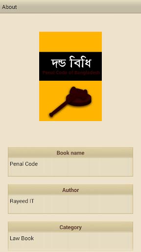 দন্ডবিধি Penal Code of BD