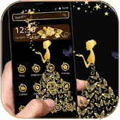 Gold Butterfly Girl Theme