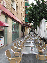 Photo: This is a typical restaurant located right by my host family's apartment.  It served many different tapas, or small plates, that were shared among a group of friends and often over drinks.