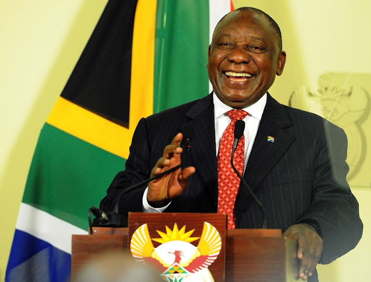 President Cyril Ramaphosa addresses members of the media at the Union Buildings on measures agreed upon by Cabinet to reignite growth, stimulate economic recovery and secure confidence in sectors affected by regulatory uncertainty and inconsistency. Picture: SIYABULELA DUDA