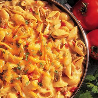 Cheesy Picante Beef Macaroni.