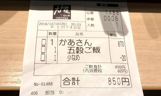 大戸屋2回目!! 「かあさん」のインパクトと例のタブレットを…!!
