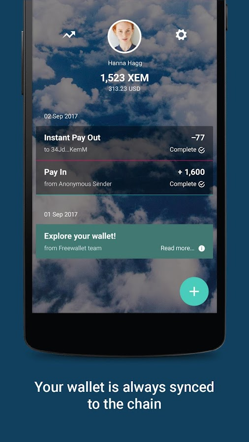 NEM Wallet by Freewallet- screenshot