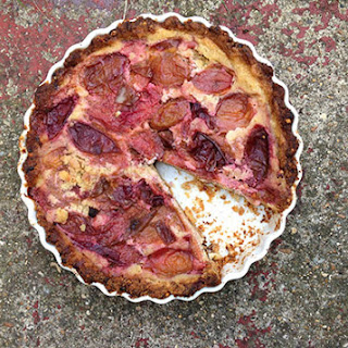 Plum, Cardamom and Ginger Frangipane (with a Healthier Tart Crust) Recipe