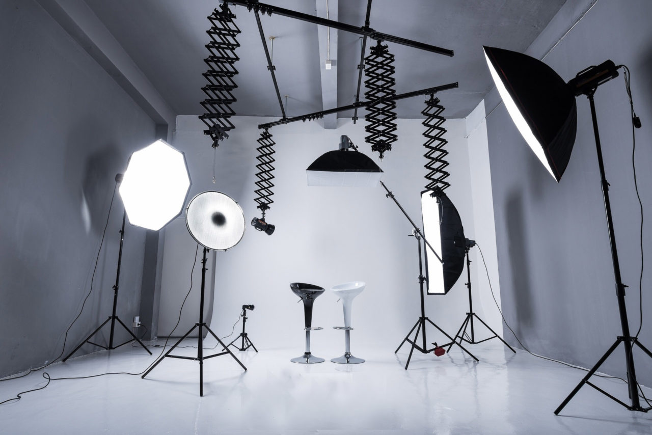 An image showing set up for photoshoot