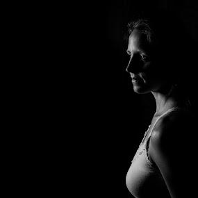    L I G H T    by Jonathan Stolarski - People Portraits of Women ( studio, model, monochrome, b&w, woman, vsco,  )