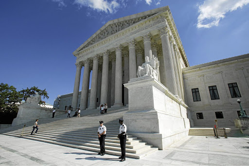 The US Supreme Court building in Washington DC. Picture: REUTERS