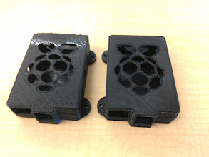 Photo: Ran off another RPi case during EDay. We'vedefinitelytuned our settings for the RepRaper filament better.