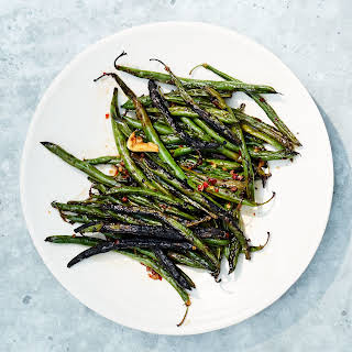 Sichuan Peppercorn–Black Bean Marinated Green Beans.