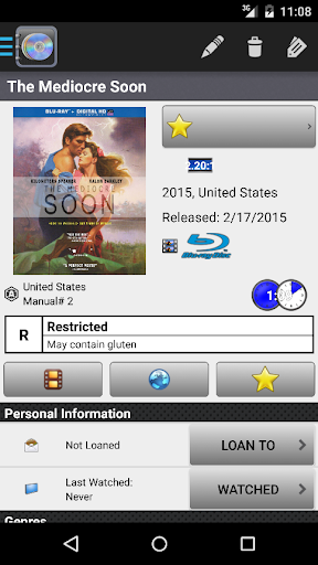 Screenshot for DVD Profiler in United States Play Store