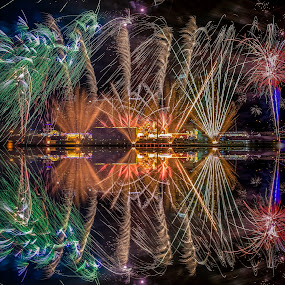 New year 2016  by Jun Hao - Abstract Fire & Fireworks ( landscape 2016 )
