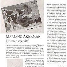 """Photo: Monique Sasegur, """"Mariano Akerman: Un Mensaje Vital"""" (A Vital Message), LA ACTUALIDAD EN EL ARTE, Buenos Aires, May-June 1986, p. 58 http://migrante-akermariano.blogspot.com/2011/11/buenos-aires.html ; http://hola-akermariano.blogspot.com/2012/03/puente-entre-culturas.html ; http://hola-akermariano.blogspot.com/2012/05/blue-chip-magazine.html ; http://akermariano.blogspot.com/2012/12/mariano-akerman.html"""