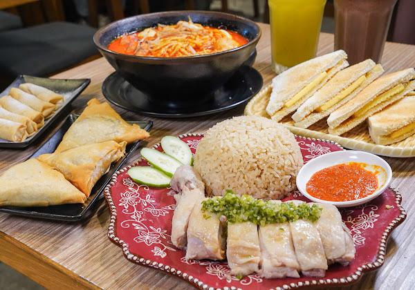 超銷魂海南雞飯x南洋叻沙海鮮麵~巨蛋附近好吃不貴南洋餐廳-老巴剎新加坡風味美食