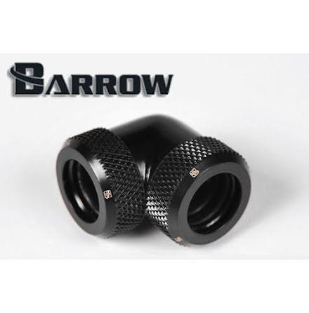 Barrow røradapter, 90°, Ø12mm, Black