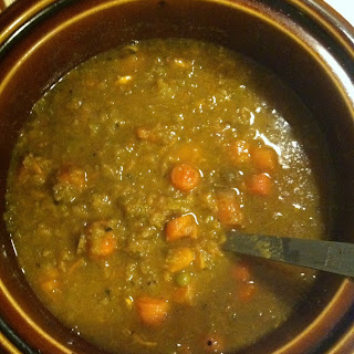 Crockpot Vegan Split Pea Soup.
