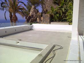 Photo: Terraza de piscina.