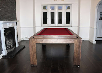 Spartan Pool Table Next to Fireplace
