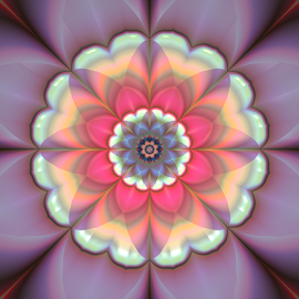 Flower 22 by Cassy 67 - Illustration Abstract & Patterns ( digital art, bloom, flowers, fractal, digital, fractals, blossom, flower, mandala )