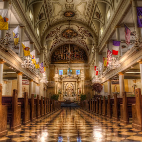 St Louis Cathedral- New Orleans by Laura Prieto - Buildings & Architecture Places of Worship ( interior, new orleans, catholic, church, big easy, warm tones, louisiana, religio, louis xiv, jackson square, cathedral, architecture, light, usa,  )