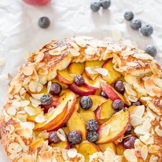 Peach and Blueberry Galette.