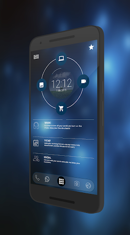 android Curval Wave for KLWP Screenshot 1