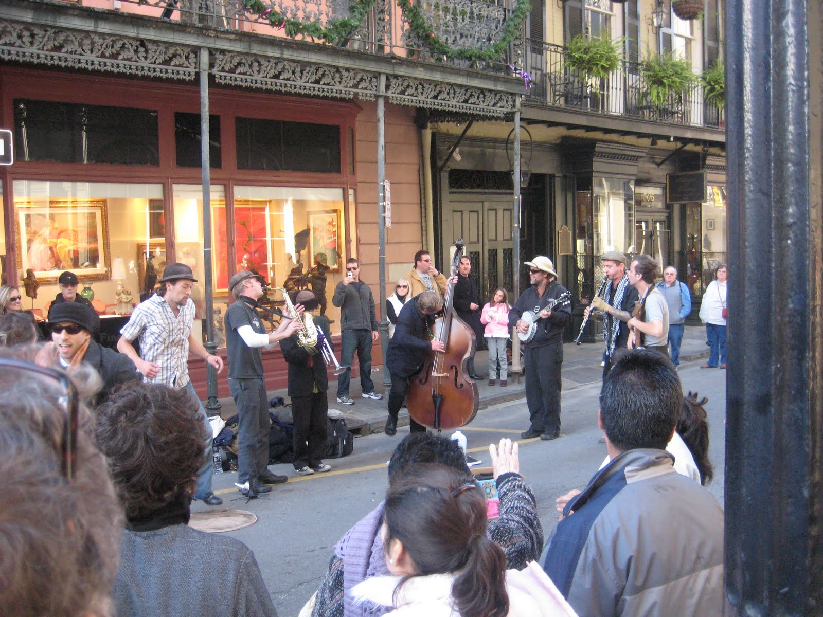 Street musicians in New Orleans' French Quarter