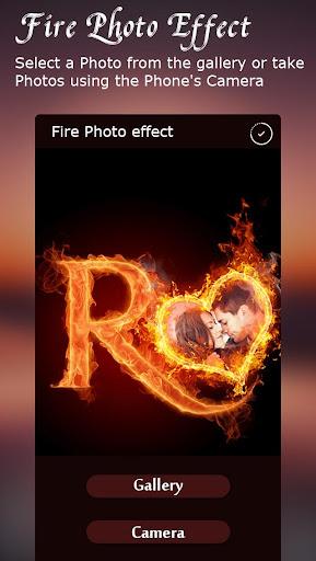 Fire Text Photo Frame  screenshots 6