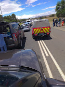 Service delivery protest disrupts traffic on the N6
