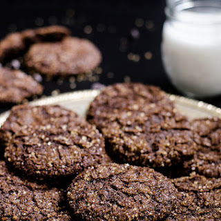 Double Chocolate Molasses Crinkles