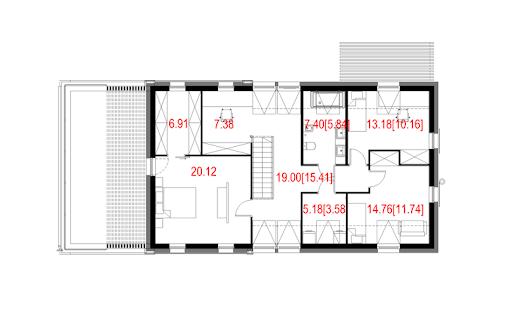 House 27 - Rzut poddasza