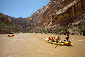 Photo: Whitewater rafting on the Yampa River which flows through Dinosaur National Monument in northeastern Utah.