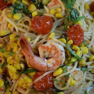 Shrimp Sweet Corn & Tomato Pasta.