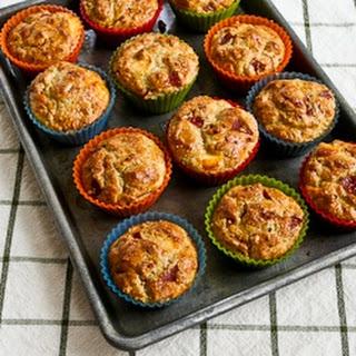 Recipe for Pizza-Flavored Breakfast Muffins with Pepperoni, Mozzarella, Parmesan, and Oregano