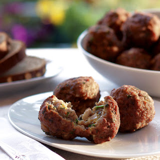Corfu Style Stuffed Meatballs