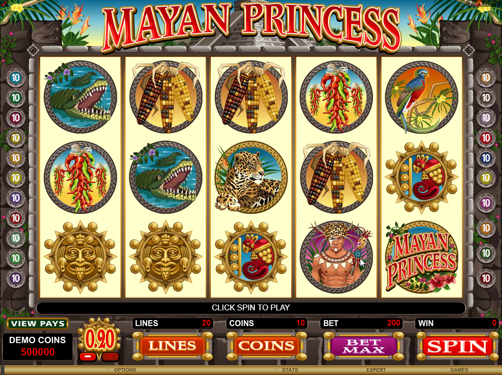 Mayan Princess Slots Machine Review