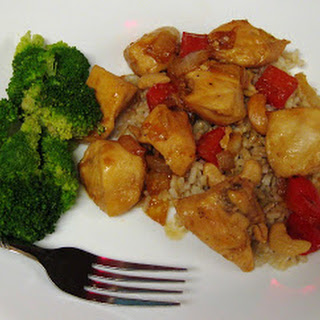 Chinese Orange Barbecue Cashew Chicken