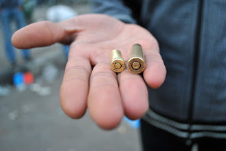 Photo: A range of bullets were used during the course of the attack on Tahrir Square.