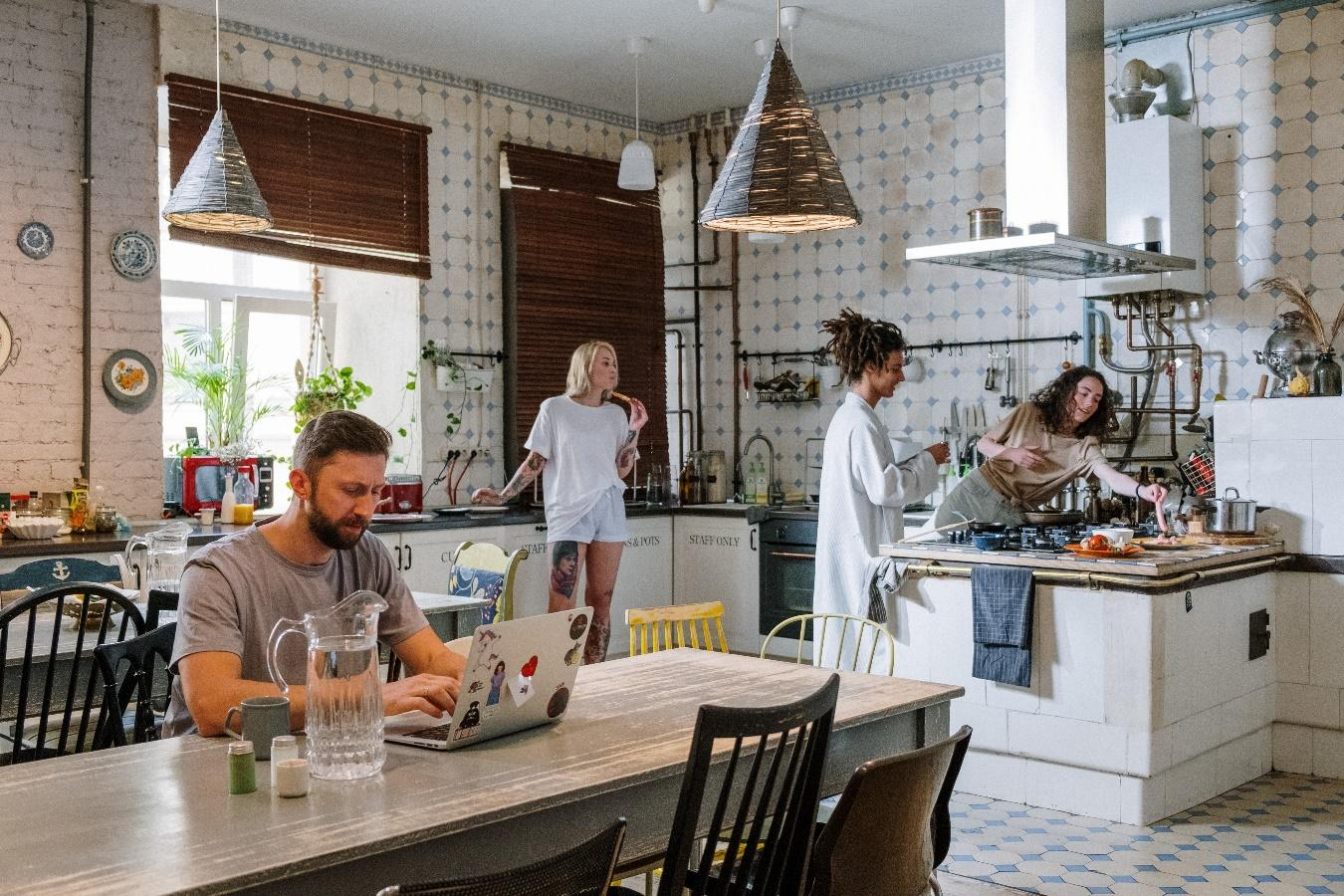 People sharing a kitchen