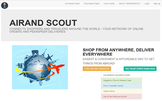 1ClickOrder - Crowdsourced Delivery