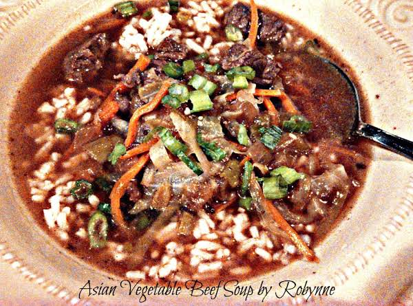 Asian Vegetable Beef Soup~robynne