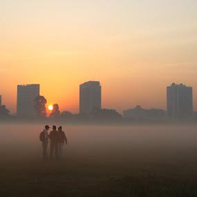 morning raga by Arup Chowdhury - City,  Street & Park  Street Scenes